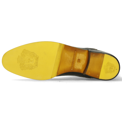 Botki Susan 67 Big Croco Black Binding Fluo Yellow