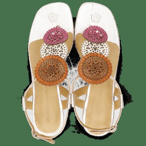 Sandały Vicky 11 Dark Pink Vegas White Tibet White