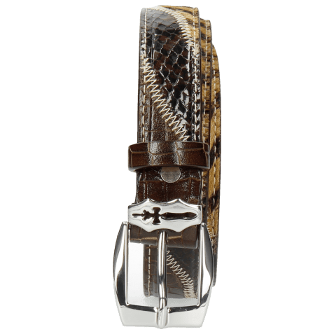 Paski Linda 1 Crock Brown Hairon Driveway Sword Buckle