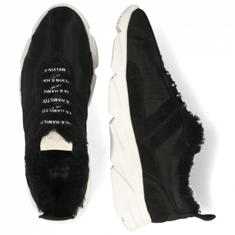 Sneakersy Briana 1 Oily Suede Funky Black Sherling