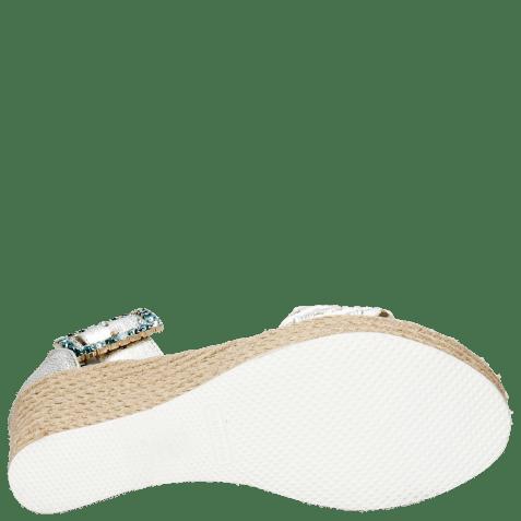 Sandały Abby 2 Cherso Raffia Silver
