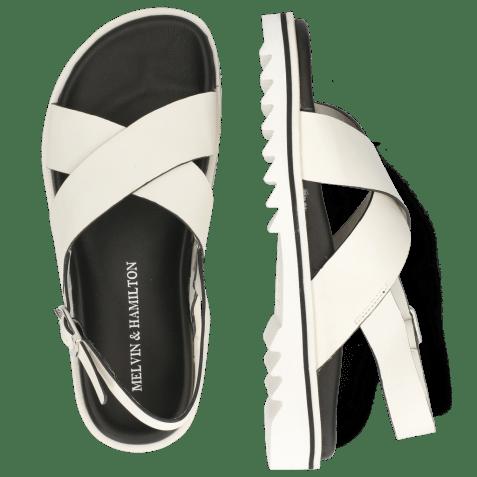 Sandały Helen 13 Flex White Edge Black Strap