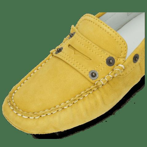 Mokasyny Caroline 1 Goat Suede Yellow Dots