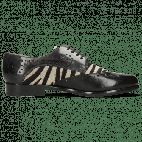 Derby Selina 41 Imola Black London Fog Hairon Zebra