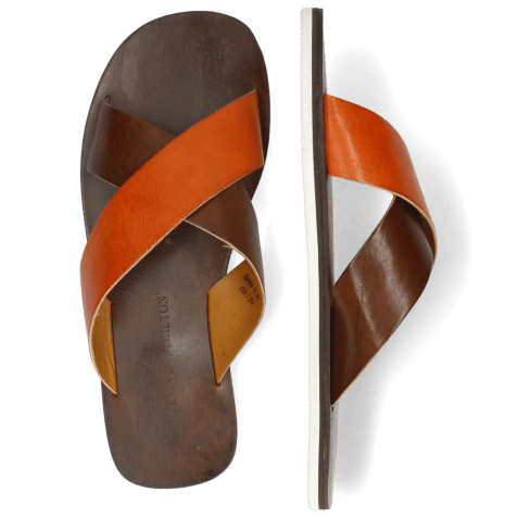 Mule Sam 5 Imola Dark Chocolate Arancio
