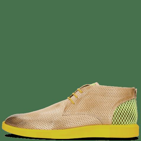 Sneakersy Newton 2 Franky Perfo Digital Underlay Suede Yellow