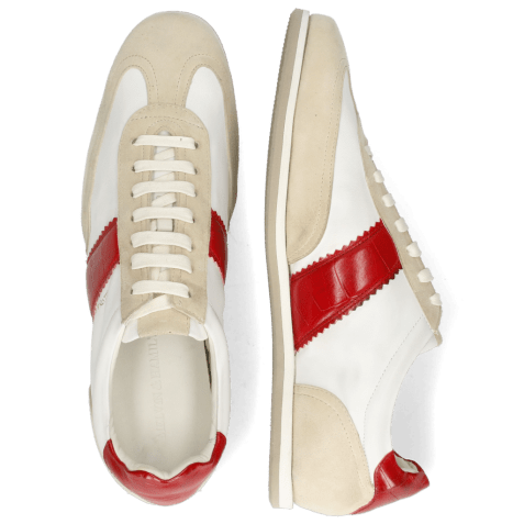 Sneakersy Pharell 12 Suede Ivory Nappa White Turtle Red