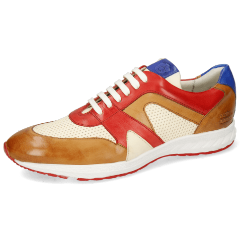 Sneakersy Blair 9 Imola Tan Red White Electric Blue Imola Perfo White