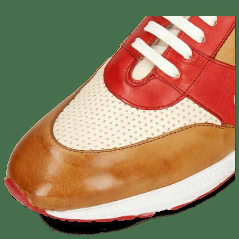 Sneakersy Blair 9 Imola Tan Red White Electric Blue Imola Perfo White