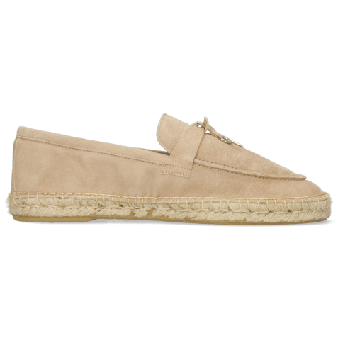 Mokasyny Sandro 3 Suede Off White Accessory Nickle