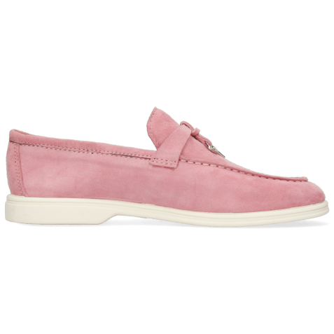 Mokasyny Adley 3 Goat Suede Rose Accessory Nickle
