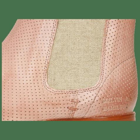 Botki Susan 10 Imola Perfo Pale Rose Elastic Lino
