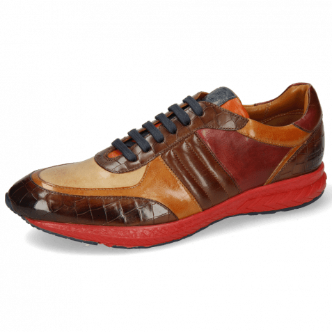 Sneakersy Blair 13 Vegas Crock Dark Mid Brown Imola Tan Sand Plum Nappa Wood