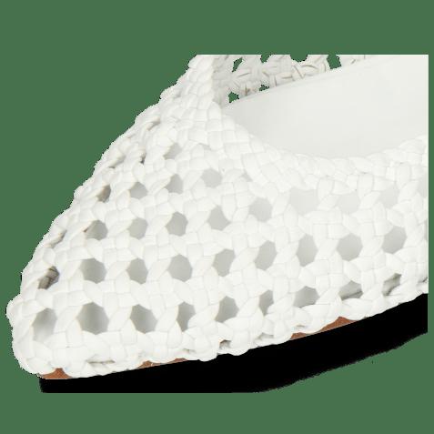 Sandały Alexa 27 Open Weave White