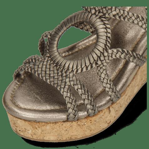 Sandały Hanna 58 Woven Pewter Cork