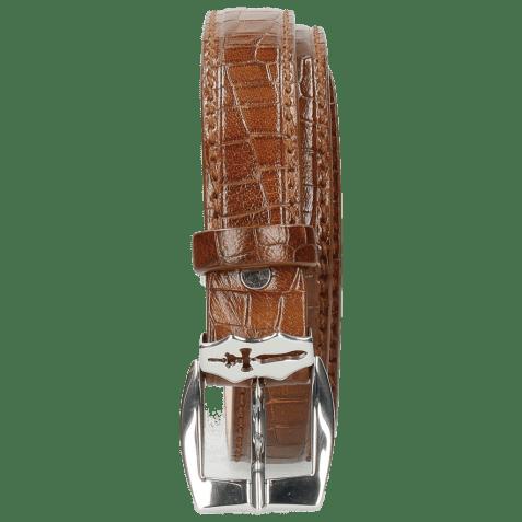 Paski Linda 1 Crock Mid Brown Sword Buckle