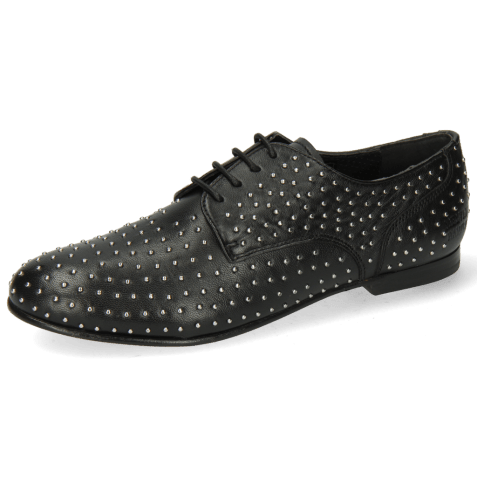 Derby Sonia 10 Nappa Black Rivets