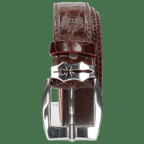 Paski Larry 1 Crock Burgundy Sword Buckle