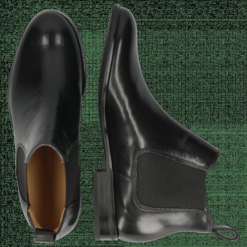 Ankle boots Sally 25 Black Elastic Black Rich Tan
