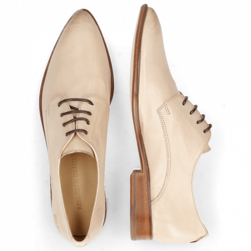 Derby shoes Jessy 5 Pavia Beige Lining Collar