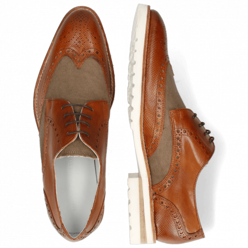 Derby shoes Kane 5 Venice Dice Tan Canvas Beige