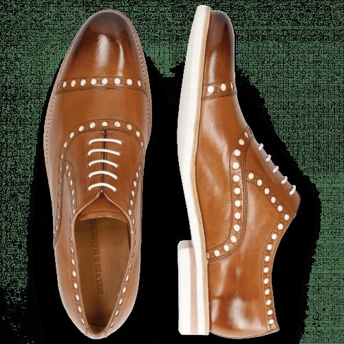 Oxford shoes Scott 15 Tan Underlay Patent White