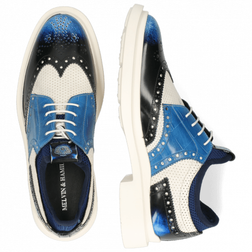 Derby shoes Ron 2 Brush Off Multi Blue Perfo White Turtle Mid Blue