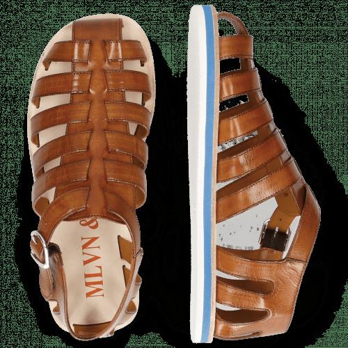 Sandals Sam 3 Tan Modica White EVA