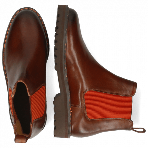 Ankle boots Dexter 2R Mid BrownElastic Ribbed Orange