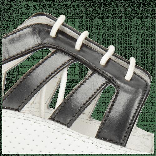 Oxford shoes Sally 105 Black Nappa Perfo White