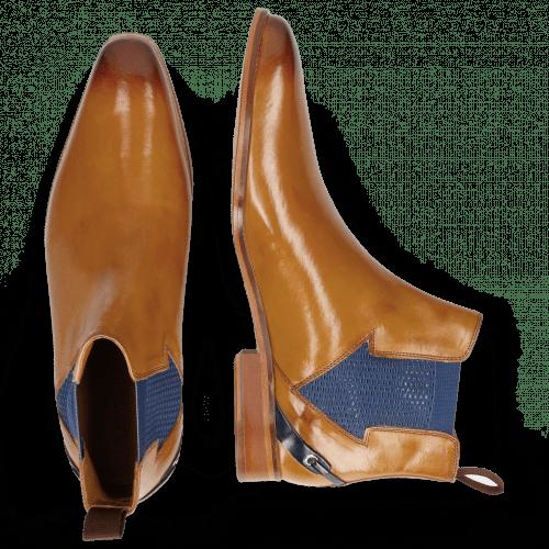 Ankle boots Lance 19 Cognac Elastic Strap Navy