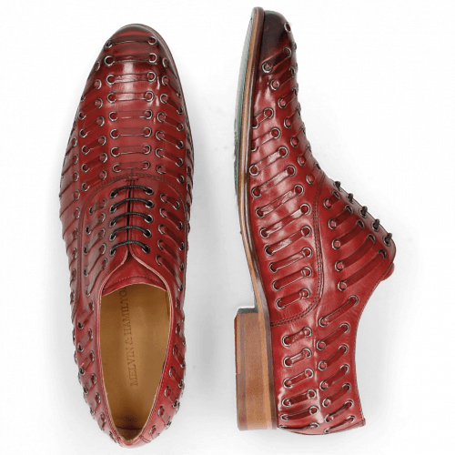 Oxford shoes Henry 25  Red Eyelet Gunmetal Lining
