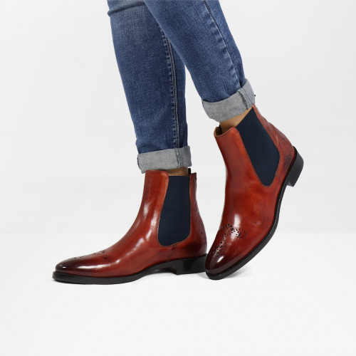 Ankle boots Betty 1 Rust Elastic Navy