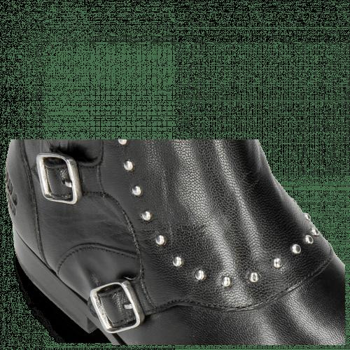 Ankle boots Susan 45R Salerno Black Rivets
