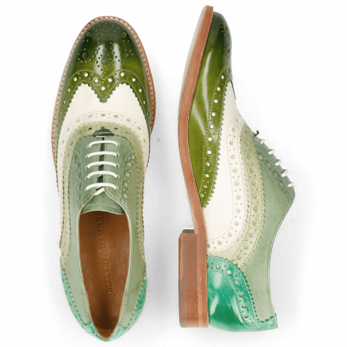 Oxford shoes Amelie 10 Vegas Ultra Green White Mint Algae Electric Green