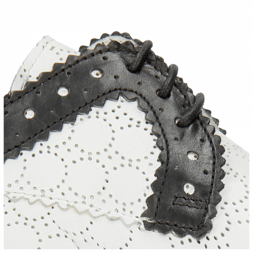 Derby shoes Jessy 37 Black Nappa Perfo White