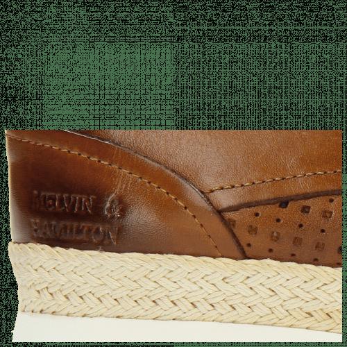 Derby shoes Regine 1 Perfo Square Tan