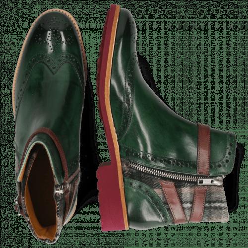 Ankle boots Amelie 11 Pine Textile Crayon Strap