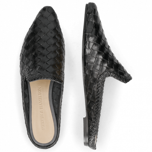 Mules Lydia 2 Woven Scale Black