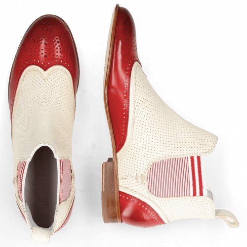Ankle boots Sally 19 Vegas Ruby White Perfo