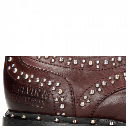 Derby shoes Sally 53  Burgundy Rivets