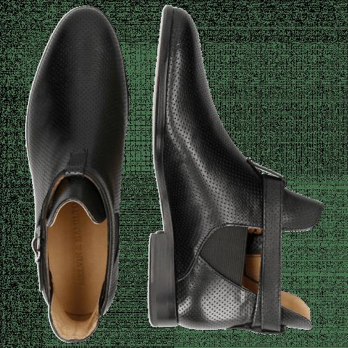 Ankle boots Susan 36 Salerno Perfo M&H Black Elastic Black
