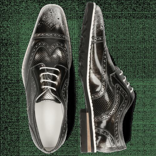 Derby shoes Clark 45 Brush Off Black White