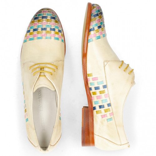 Derby shoes Selina 14 Vegas Nude Interlaced Multi