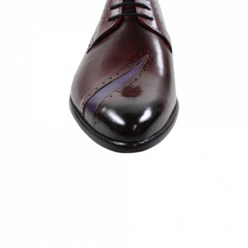 Derby shoes Toni 8 Burgundy Purple Flame