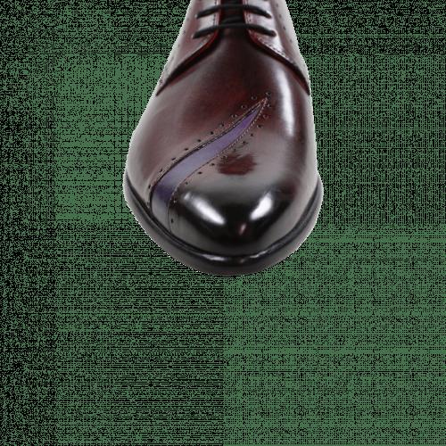 Derby shoes Toni 8 Burgundy Purple Flame