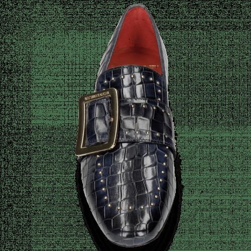 Loafers Luna 3 Crock Navy Rivets Gold