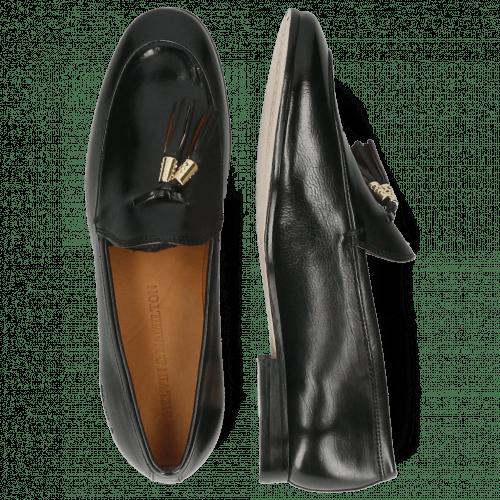 Loafers Scarlett 48 Pisa Black Accessory Gold Tassel Black Ruby