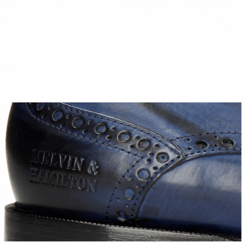 Derby shoes Albert 2 Saphir Rivets Lines Navy