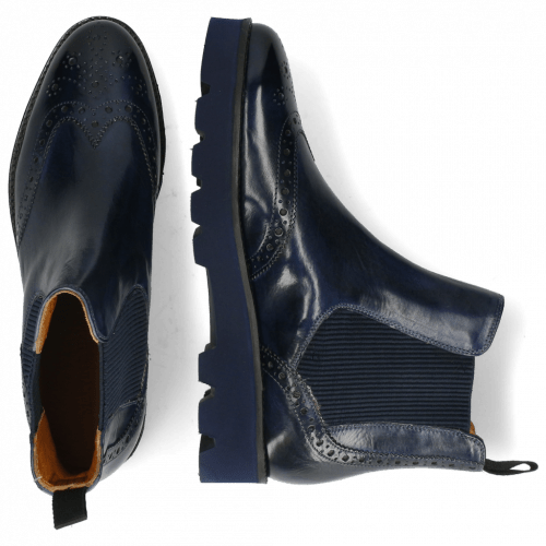 Ankle boots Selina 6 Marine Elastic Ribbed